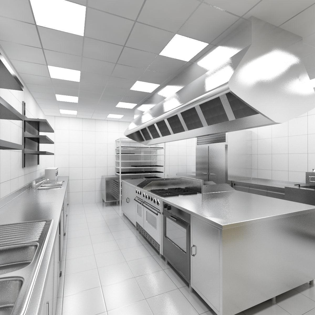 endüstriyel mutfak aydınlatma