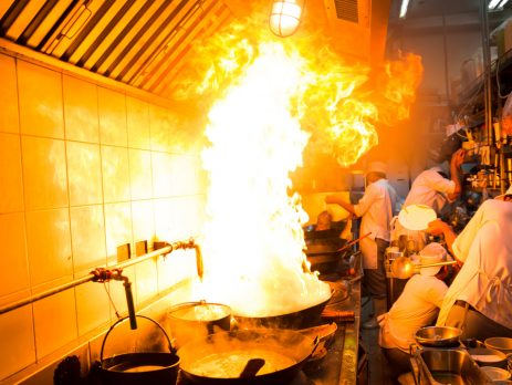 Endüstriyel mutfak davlumbaz yangın söndürme sistemi